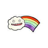 Cloud and rainbow cartoon Royalty Free Stock Photos