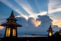 Cloud rainbow shine colorful weird on sky Stock Photography