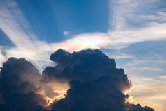Cloud rainbow shine colorful weird on sky Royalty Free Stock Images