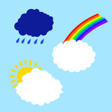 Cloud with rainbow sun and rain Stock Photography