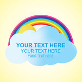 Cloud and Rainbow with Text Space. Abstract vector background Royalty Free Stock Photography