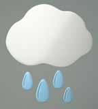 Cloud with raindrops Stock Photos
