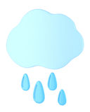 Cloud with raindrops Stock Photography