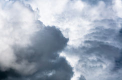Cloud before raining,Dramatic sky with stormy clouds. Dark ominous clouds royalty free stock image