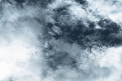 Cloud before raining,Dramatic sky with stormy clouds. Dark ominous clouds stock image
