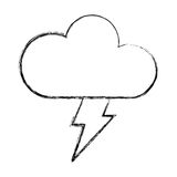 Cloud with ray climate isolated icon Stock Image