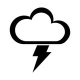 Cloud with ray climate isolated icon Stock Images