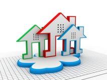 Cloud real estate Royalty Free Stock Photos