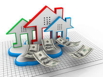 Cloud real estate Stock Image