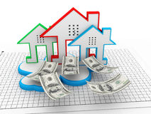Cloud real estate Royalty Free Stock Photo