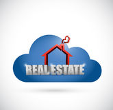 Cloud real estate illustration design Stock Image
