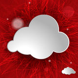 Cloud on a red striped background Royalty Free Stock Photography