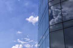 The cloud reflect,the cloud reflection with the glass building Royalty Free Stock Photos