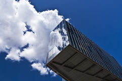 Cloud reflecting on skyscraper Stock Photo