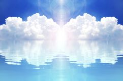 Cloud and reflection royalty free illustration