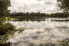 Cloud Reflection on Lake Royalty Free Stock Photos