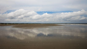 Cloud Reflections. Reflections of clouds on Cumberland Island Stock Photography