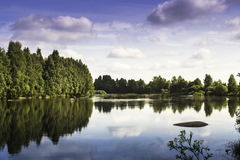 Cloud Reflections On The River. On the warm summer days the surface of the river is like a mirror. | Portfolio | Beautiful Pics | Travel Photos | Travel Pics | royalty free stock image