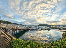 Cloud reflections at sunrise at Friday Harbor, Washington Stock Photography