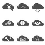 Cloud related internet icons set Royalty Free Stock Image