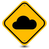 Cloud roadside  sign Stock Photography