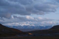 cloud słońca Plateau powiedzenie 3 800 m Kirgistan obraz royalty free
