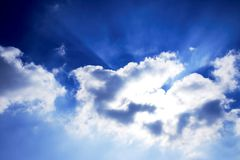 cloud słońce Fotografia Royalty Free