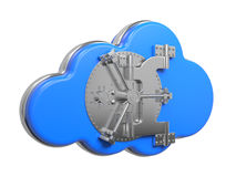Cloud with Safe Door. Computing Concept. Royalty Free Stock Photos