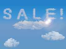 Cloud sale Royalty Free Stock Images