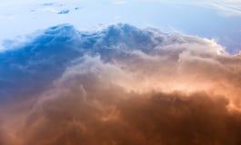 cloud samochodów promie ciemnej formy burzliwe widok Zdjęcia Stock