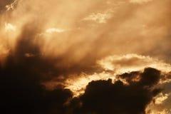 cloud samochodów promie ciemnej formy burzliwe widok Zdjęcia Royalty Free