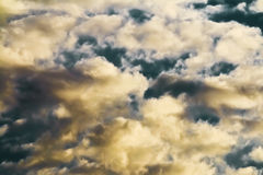 Cloud Scape on a Dark Blue Sky Stock Images