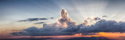 Cloud scape evening Stock Photos