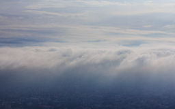 Cloud scape. Morning in Northern Thailand Royalty Free Stock Photography