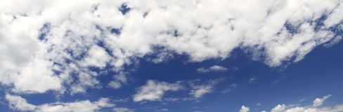 Cloud scape panorama Royalty Free Stock Image