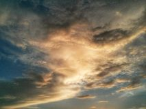 Cloud scape on sunset Stock Images