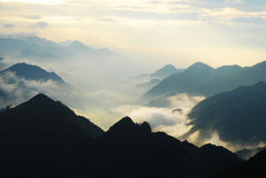 Cloud sea. Chinese Guangdong first peak Mt. Tiantai view cloud sea Royalty Free Stock Photography