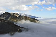 The cloud sea of Mountain Zheduo Royalty Free Stock Images