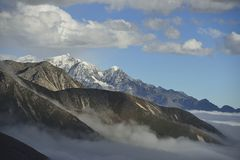 The cloud sea of Mountain Zheduo Stock Photography