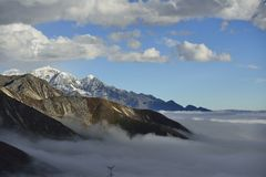 The cloud sea of Mountain Zheduo Royalty Free Stock Image