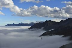 The cloud sea of Mountain Zheduo Royalty Free Stock Photography