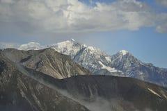 The cloud sea of Mountain Zheduo Stock Photos