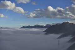 The cloud sea of Mountain Zheduo Royalty Free Stock Photo