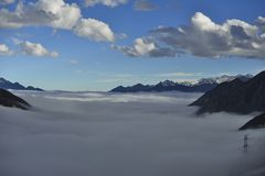 The cloud sea of Mountain Zheduo Royalty Free Stock Photos