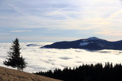 Cloud sea over the plain of Alsace Royalty Free Stock Photography