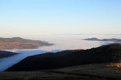 Cloud sea over the valley of Munster Stock Photography