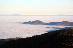 Cloud sea over the valley of Munster Royalty Free Stock Images