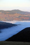 Cloud sea over the valley of Munster Royalty Free Stock Image