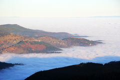 Cloud sea over the valley of Munster Royalty Free Stock Photo