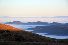 Cloud sea over the valley of Munster Stock Image